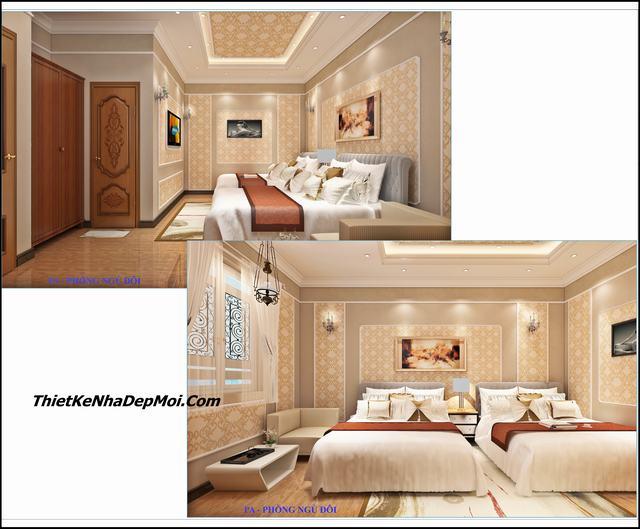Thiết kế phòng ngủ khách sạn cổ điển
