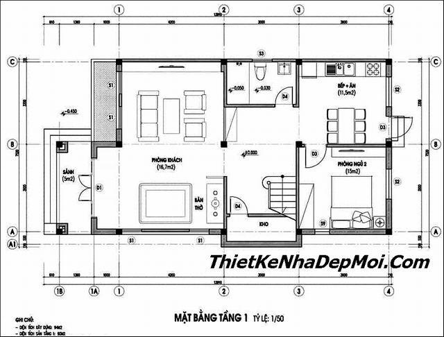Tư vấn xây nhà 700 triệu 2 tầng 4 phòng ngủ