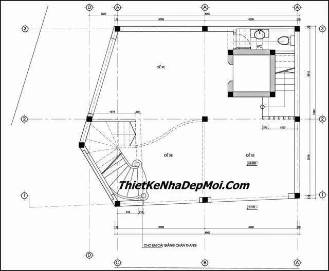 Bản vẽ thiết kế nhà nghỉ 70m2