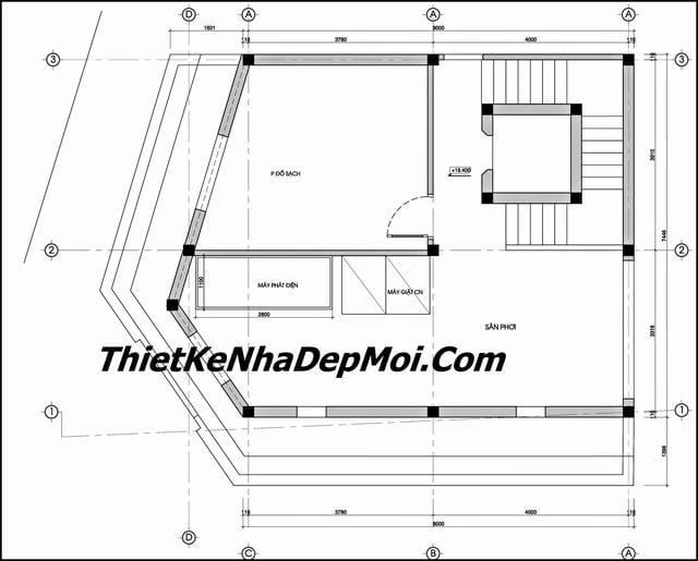 Cập nhật thêm mặt bằng nhà nghỉ có thang máy tiêu chuẩn 2 sao anh Trung Nam Định