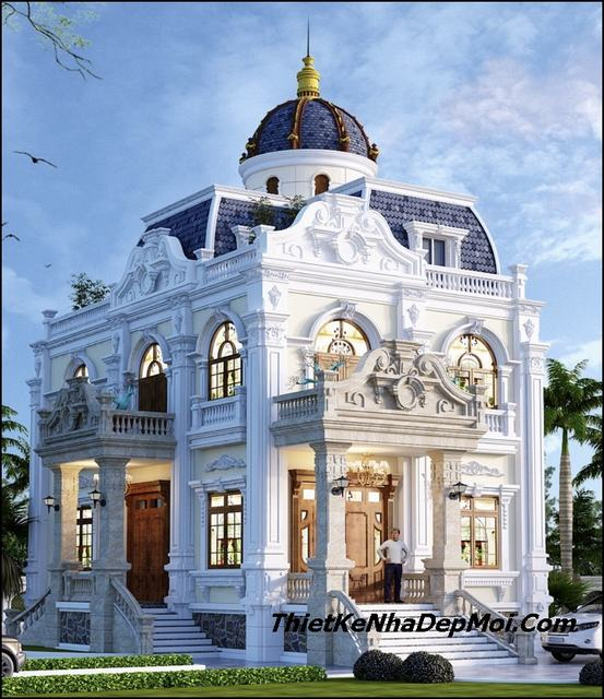 Biệt thự cổ điển 2 tầng đẹp năm 2019
