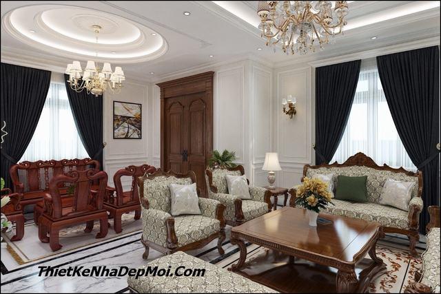 Mẫu phòng khách 40m2 đẹp