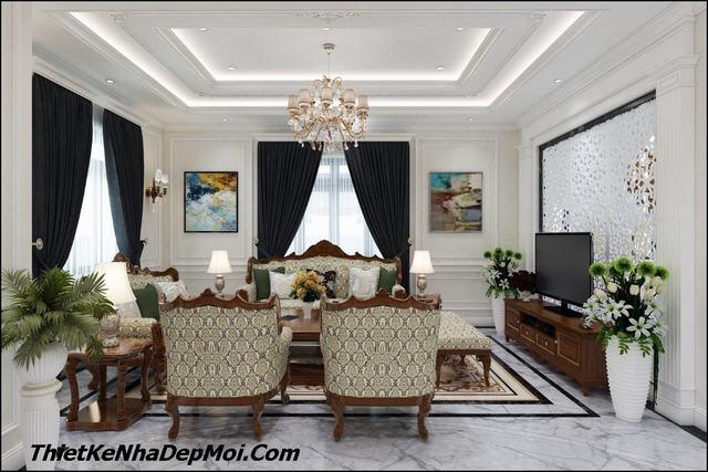 Phòng khách tân cổ điển đẹp