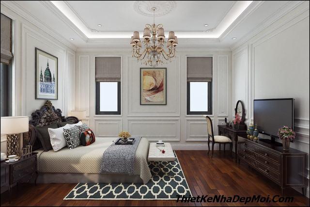 Không gian phòng ngủ đẹp tân cổ điển