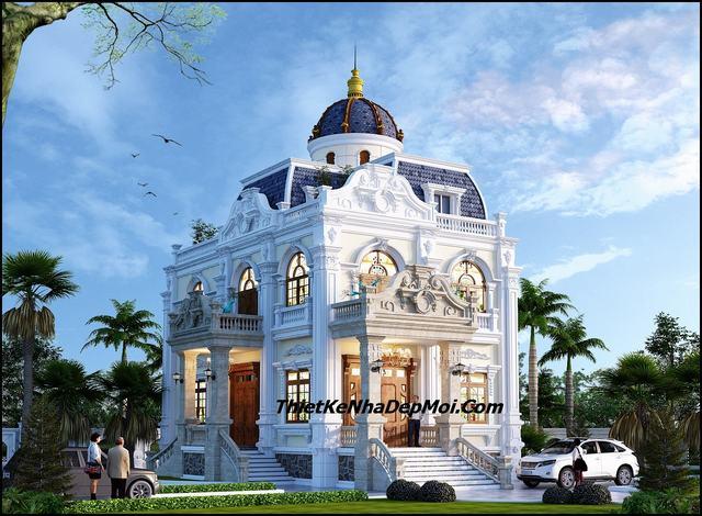 Biệt thự cổ điển 2 tầng đẹp 2019
