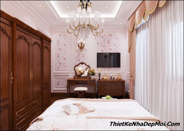 Không gian phòng ngủ tân cổ điển đẹp