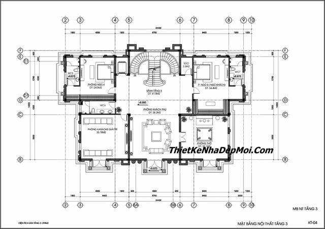 Bản vẽ thiết kế lâu đài 300m2