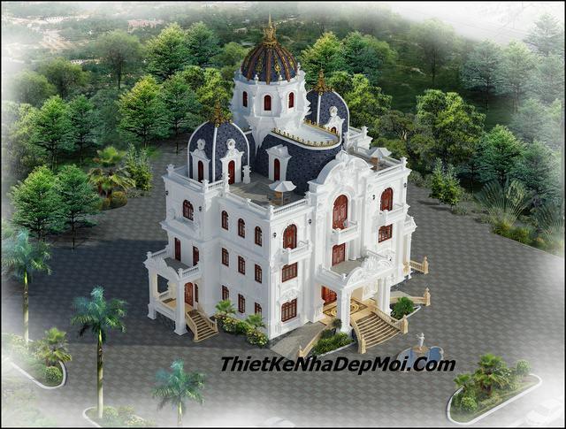 Lâu đài đẹp 4 tầng Tuấn linh