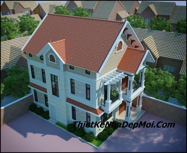 Bản thiết kế biệt thự 2 tầng đẹp