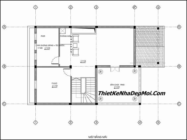 Bản vẽ nhà hai tầng 9 mét mặt tiền 2019