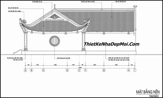 Bản vẽ thiết kế chùa xây dựng