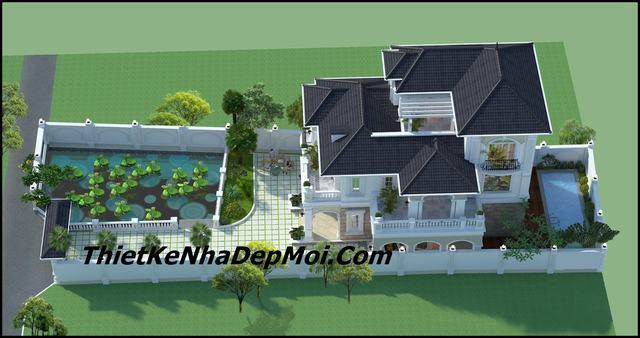 Biệt thự nhà vườn 2.5 tầng hiện đại