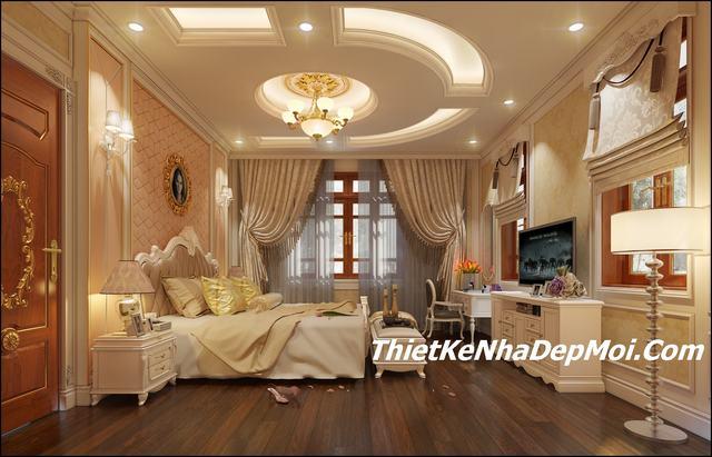 Mẫu nội thất phòng ngủ cổ điển đẹp 2019