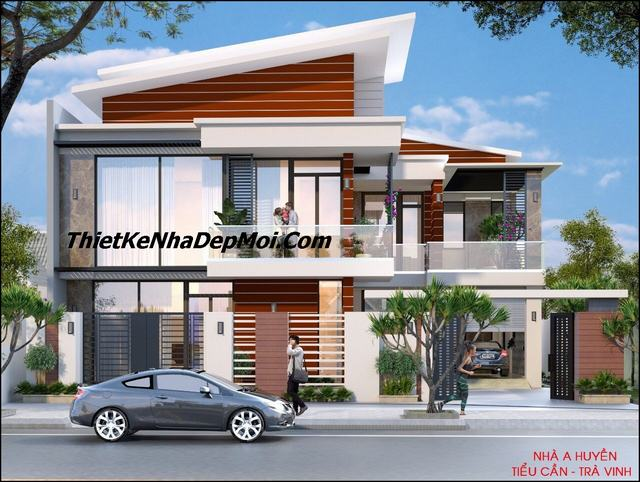 thiết kế nhà villa 2 tầng