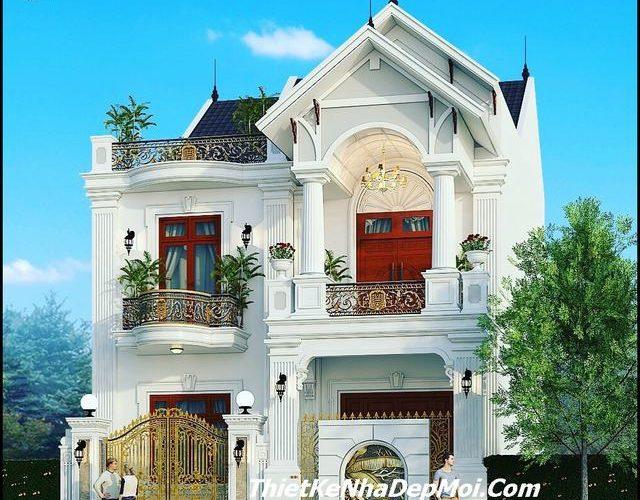 Mẫu nhà đẹp 2 tầng 9x14m