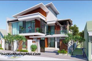 Nhà Villa 2 tầng hiện đại