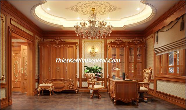 Trang trí nội thất gỗ lâu đài