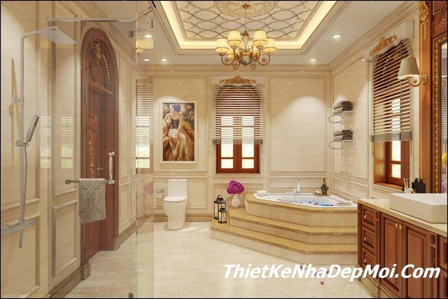Trang trí phòng tắm nội thất lâu đài