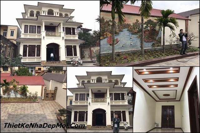 Xây biệt thự đẹp 3 tầng tại Bắc Ninh