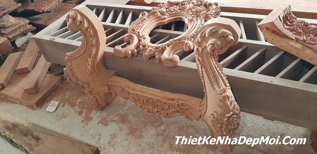 thi công nội thất gỗ biệt thự cổ điển