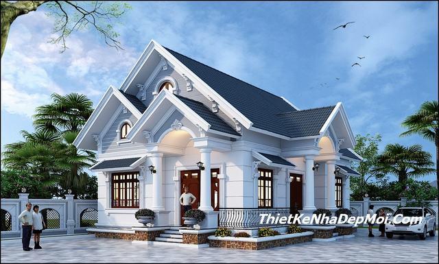 Thiết kế nhà cấp 4 mái thái hiện đại