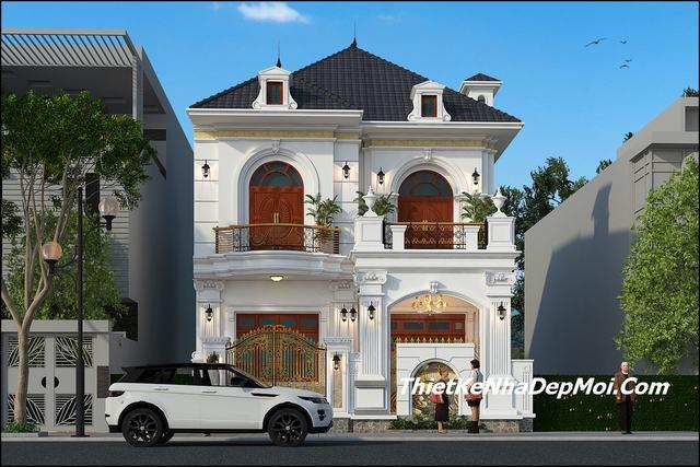 Thiết kế nhà mặt tiền 9m 2 tầng