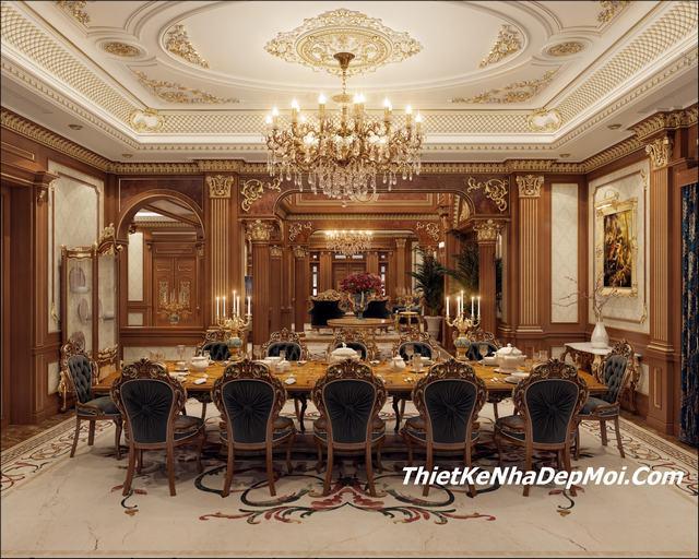 Phòng ăn cổ điển lâu đài anh Tuấn