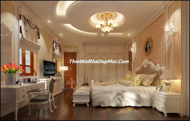 nội thất phòng ngủ master cổ điển