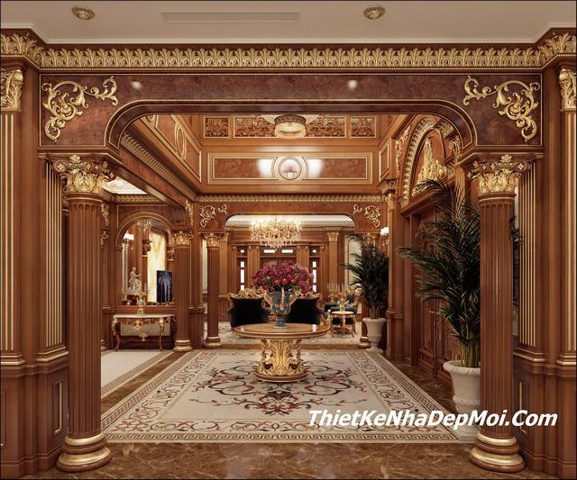 thiết kế nội thất dinh thự cổ điển đẹp tại Việt Nam