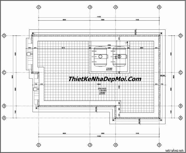 Bản vẽ biệt thự 3 tầng tân cổ điển pháp