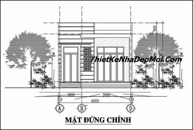 Thiết kế nhà diện tích 6x18m