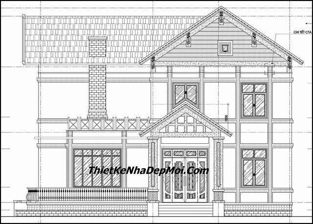Bản vẽ thiết kế nhà 2 tầng đầy đủ