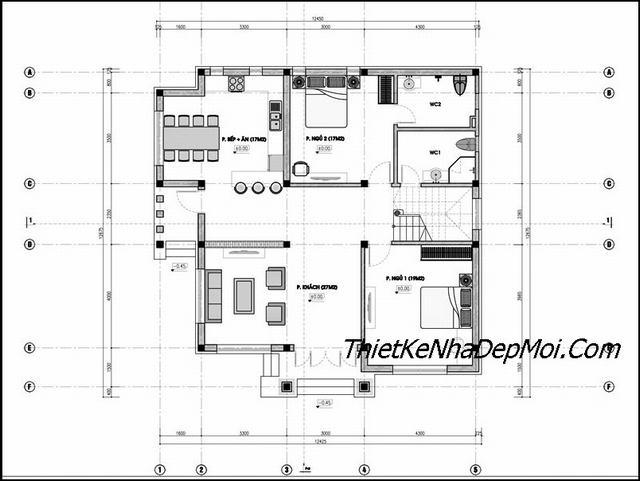 bản vẽ thiết kế nhà có tầng lửng