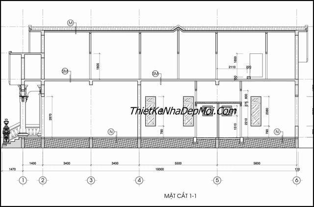 Bản vẽ chi tiết nhà cấp 4