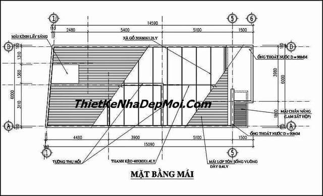 Bản vẽ xây nhà 6x18m