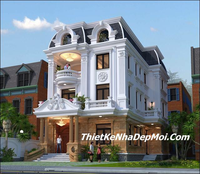Biệt thự 3 tầng kiểu pháp đẹp nhất