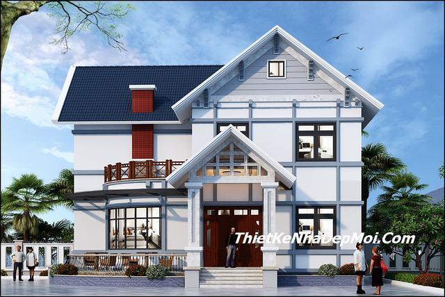 Nhà đẹp 2 tầng mái thái 120m2