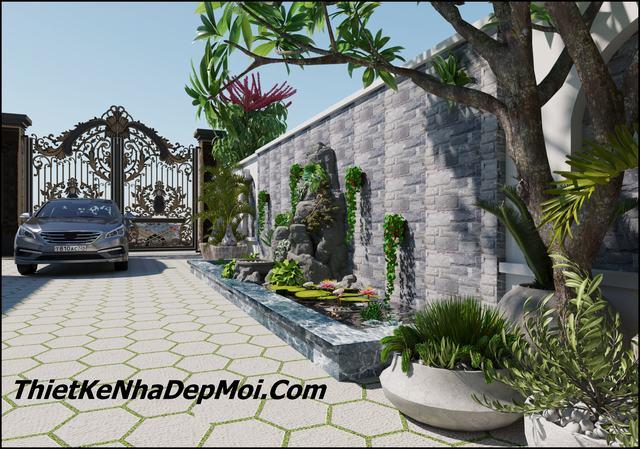 Mẫu nhà phố có sân vườn đẹp 5m