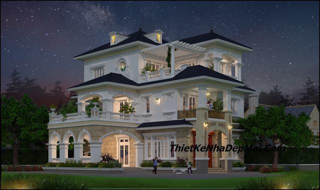 Thiết kế biệt thự 2.5 tầng 11x15m