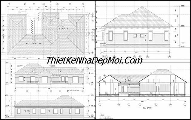 Bản vẽ xây nhà vườn 6 phòng ngủ