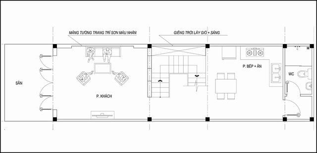 Thiết kế nhà mặt tiền 4m