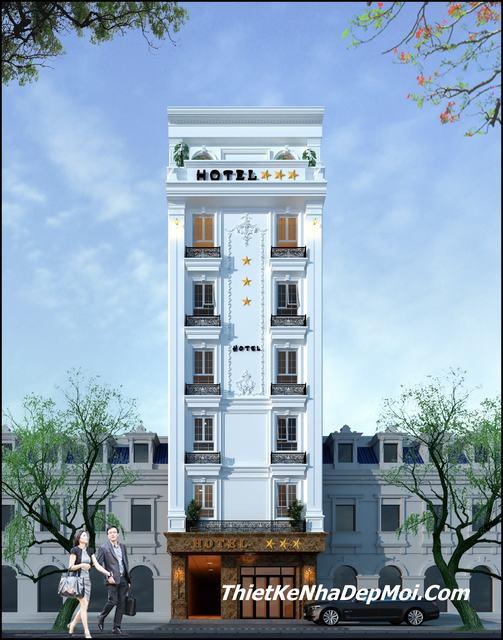 Hình ảnh thiết kế khách sạn 3 sao 7 tầng