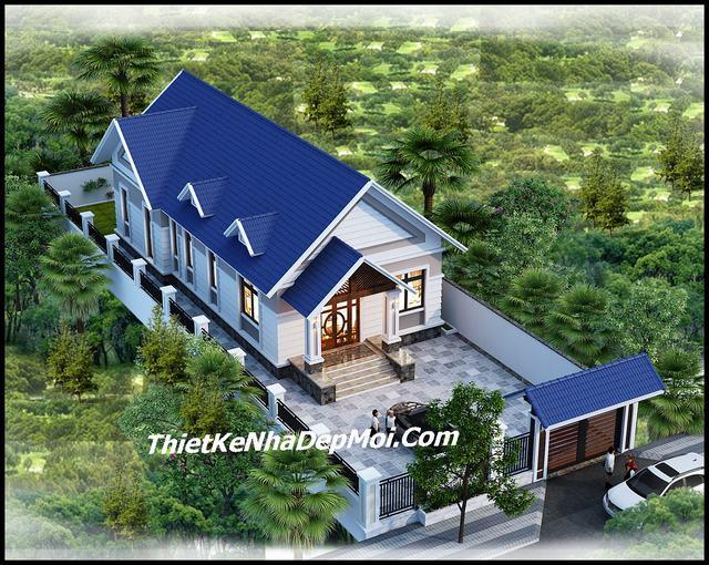 Nhà có 3 phòng ngủ mái thái