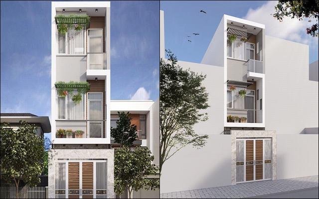 nhà 3 tầng đơn giản 4x18m