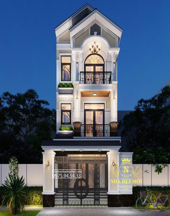 Nhà 3 tầng mái thái 5m