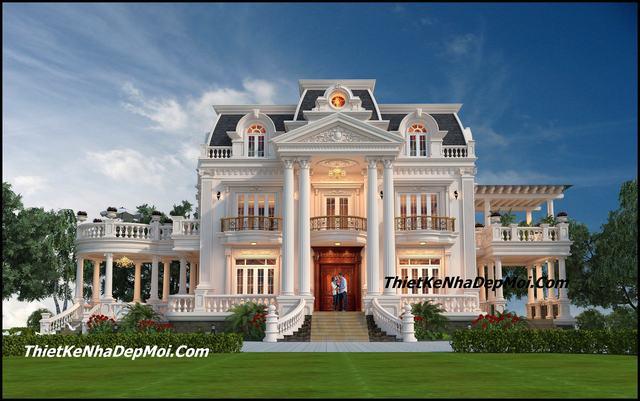 Biệt thự cổ điển Pháp đẹp 2 tầng