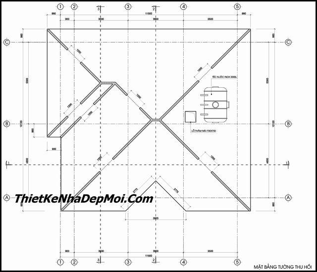 Thiết kế mẫu biệt thự 1 tầng 3 phòng ngủ mái thái diện tích đất 240m2