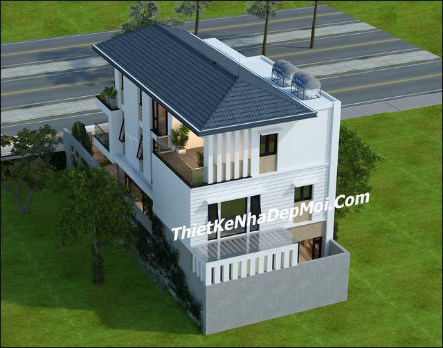 Biệt thự 3 tầng hiện đại 9x17m