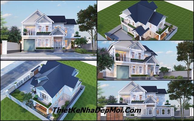Nhà 1 trệt 1 lầu mái ngói 13x17m