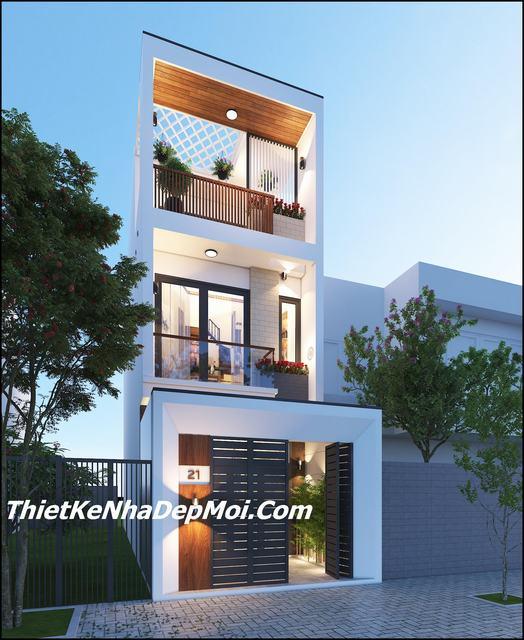 nhà phố lệch tầng 4x15m